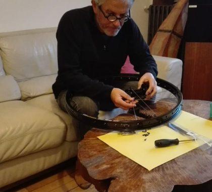 Rayonnage roue Bernard Cauquil